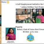 Self Employment Project For Women With Rotary Fund in Goa by Rtn. Kavita Dialani
